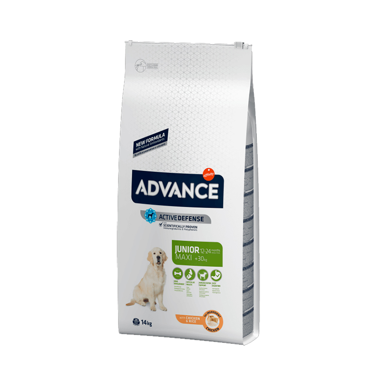 Advance Maxi Junior Pollo y Arroz 14 Kg