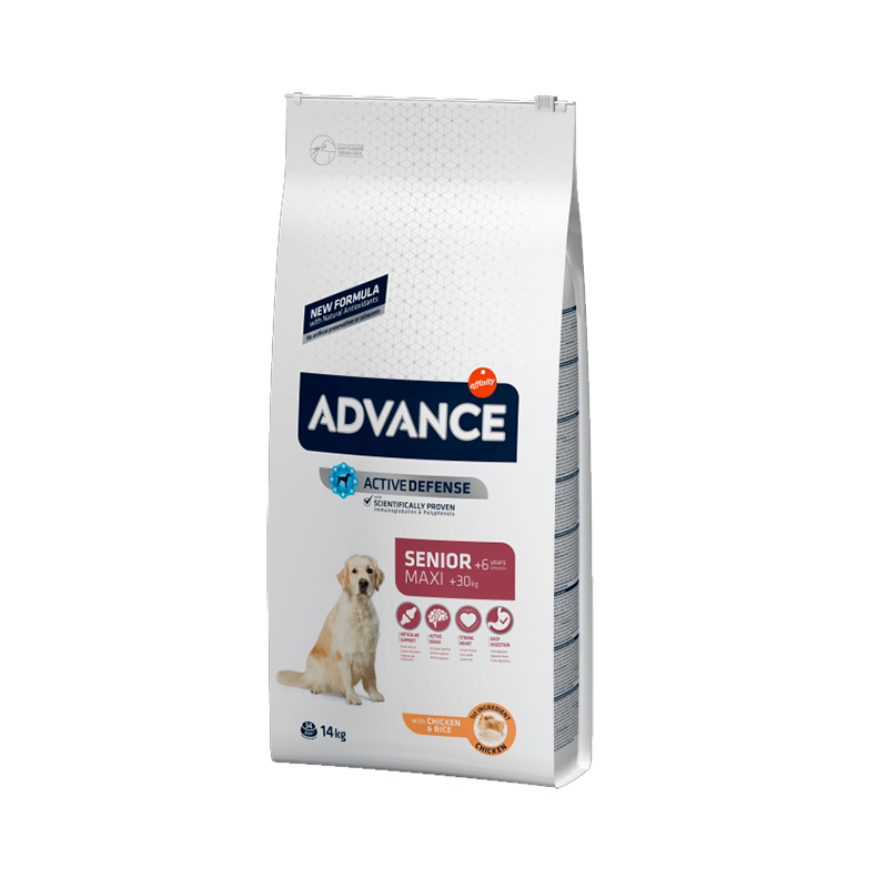 Advance Maxi Senior Pollo y Arroz 14 Kg