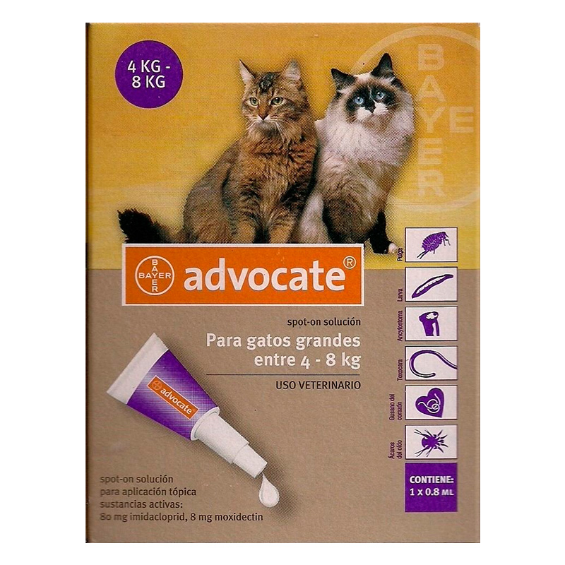 Internal and External Antiparasitic Advocate Cats 4 - 8kg