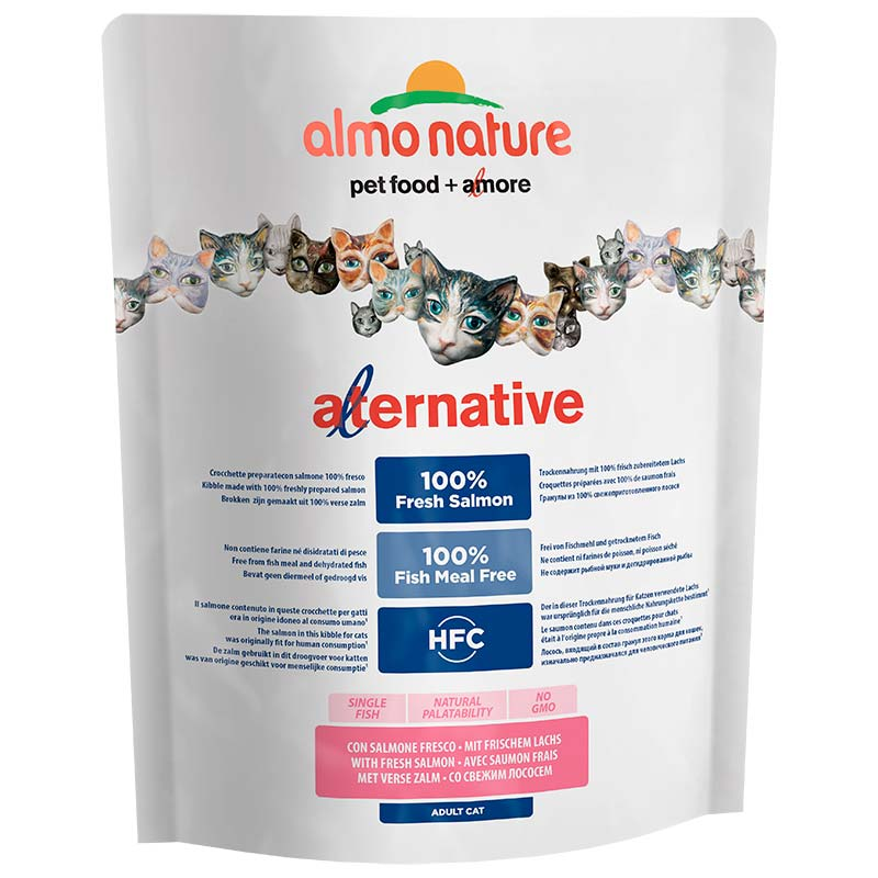 Almo Nature HFC Alternative Adult Cat Fresh Salmon and Rice 750 gr