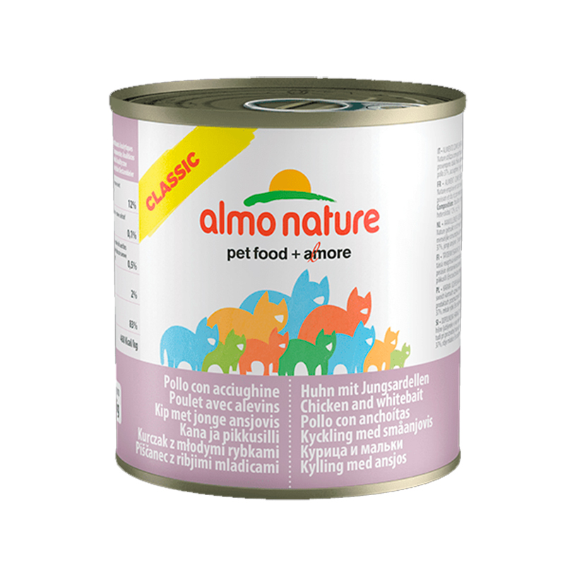 Almo Nature Classic with Chicken and Whitebait  140gr. Wet cat food
