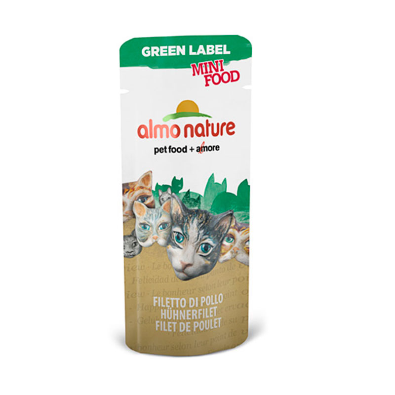 Almo Nature Green Label Mini Food Snack Filete de Pollo 3gr
