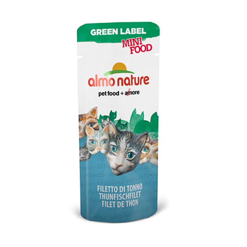 Almo Nature Green Label Mini Food Snack Filete de Atún 3gr