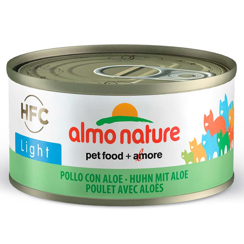 Almo Nature HFC Light Chicken and Aloe. Can for Cats 70gr