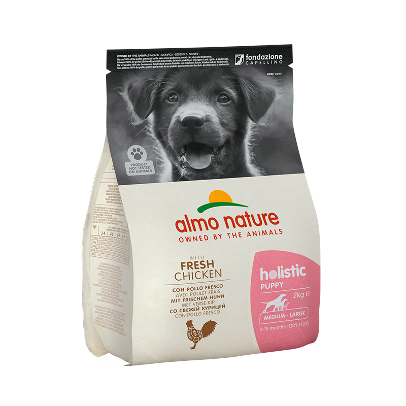 Pienso Almo Nature Holistic Medium Puppy con Pollo y Arroz