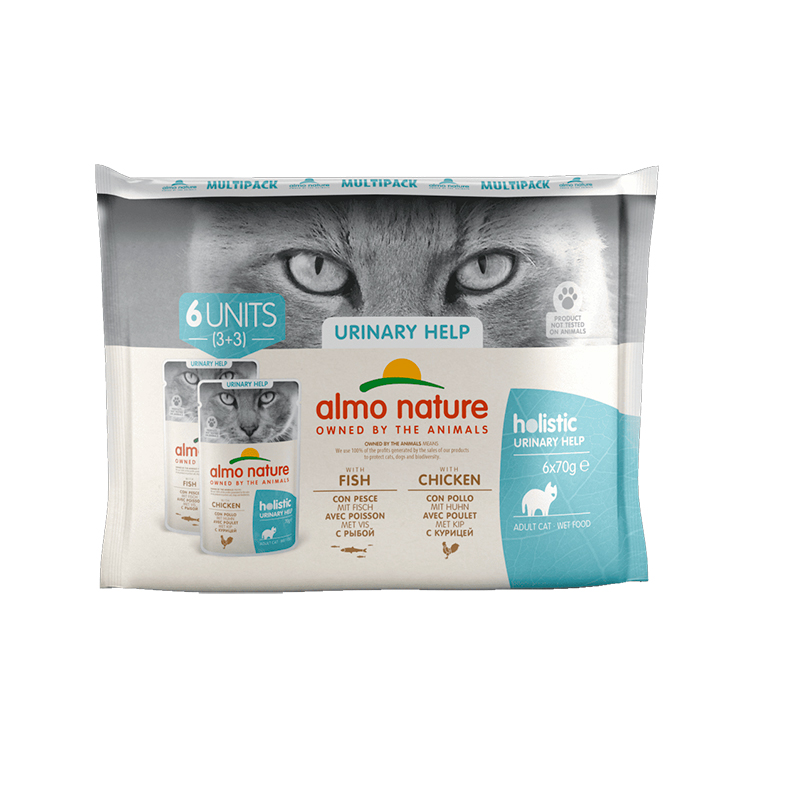 Almo Nature Daily Urinary Support Multipack Fish & Chicken Pouch for Cat