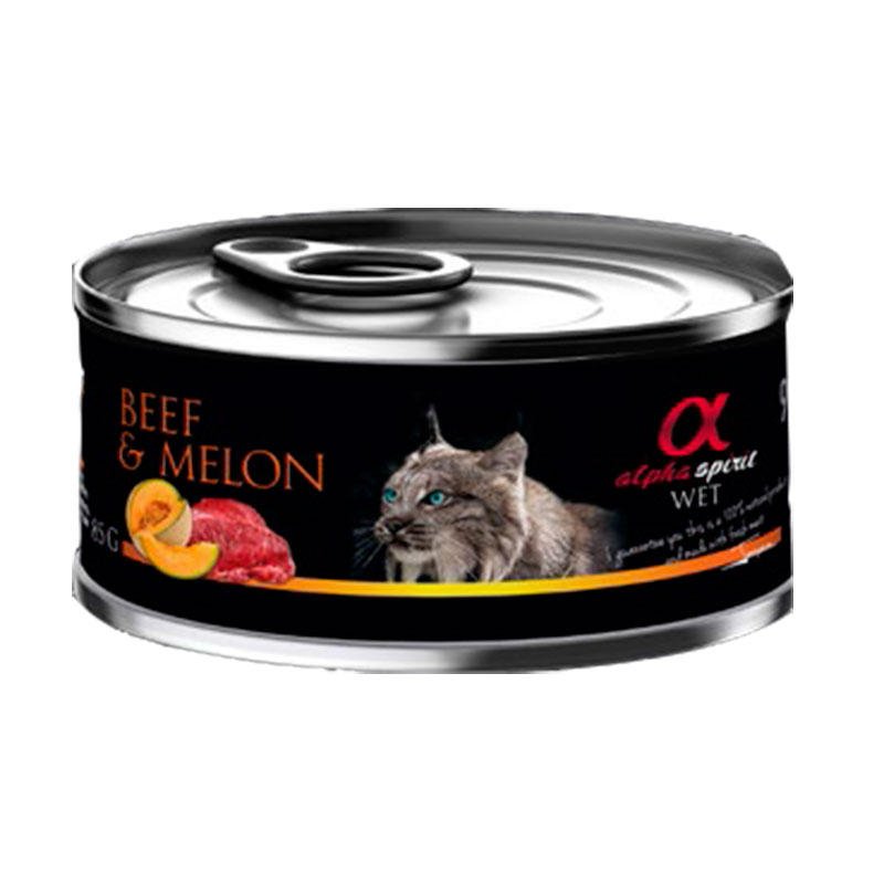 Alpha Spirit Wet Can Cat Beef and Melon 85gr