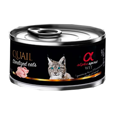 Alpha Spirit Cat Can Sterilized Quail