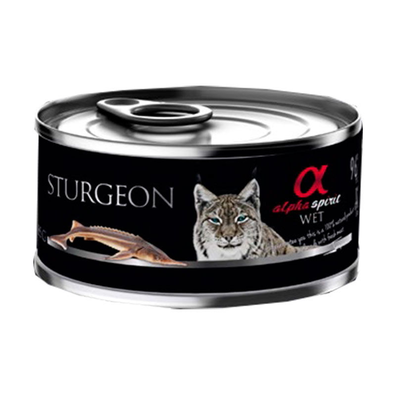 Alpha Spirit Wet Can Cat Sturgeon 85gr