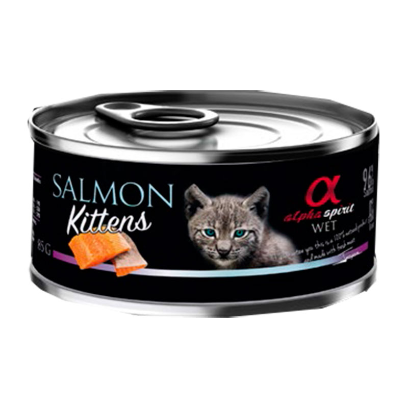 Alpha Spirit Wet Cat Kitten Salmon 85g