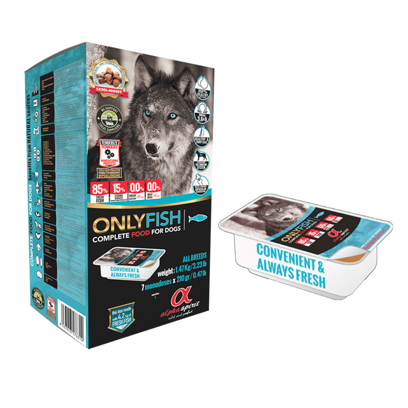 Alpha Spirit Only Fish. Natural Food for Dogs Semi-Wet