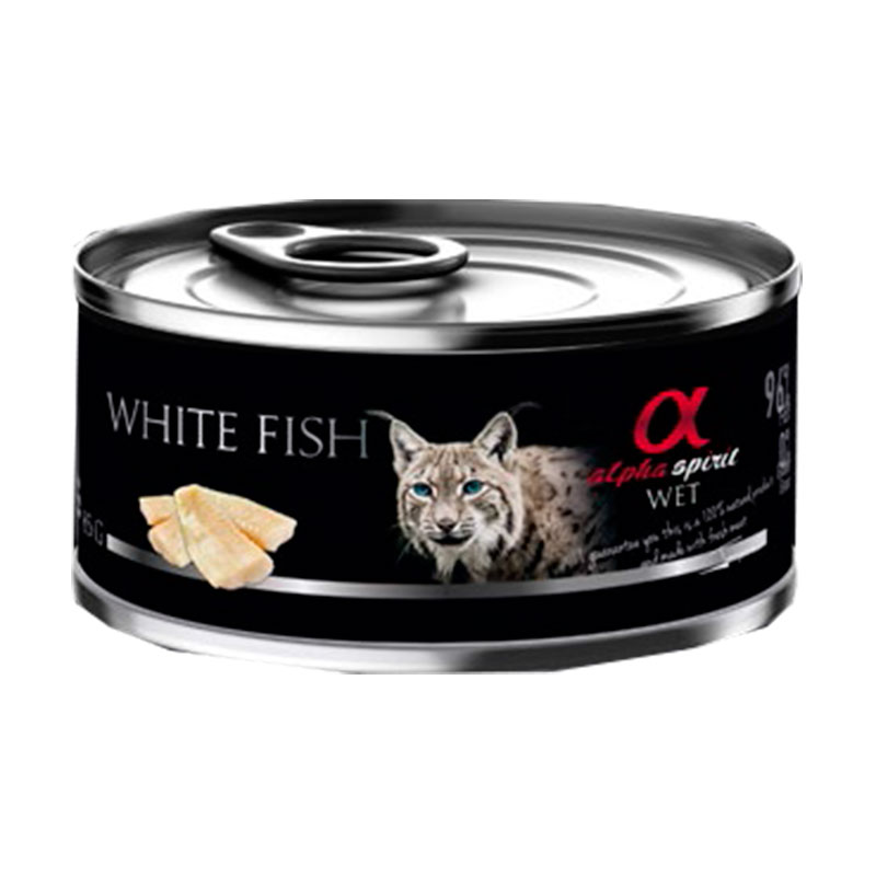 Alpha Spirit Wet Can Cat White Fish 85gr