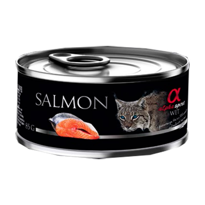 Alpha Spirit Wet Can Cat Salmon 85gr