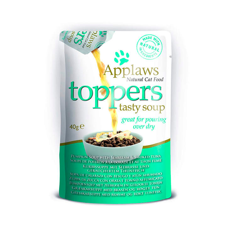 Applaws Adult Cat Toppers Bream and Tuna with Pumpkin Soup 3x40gr