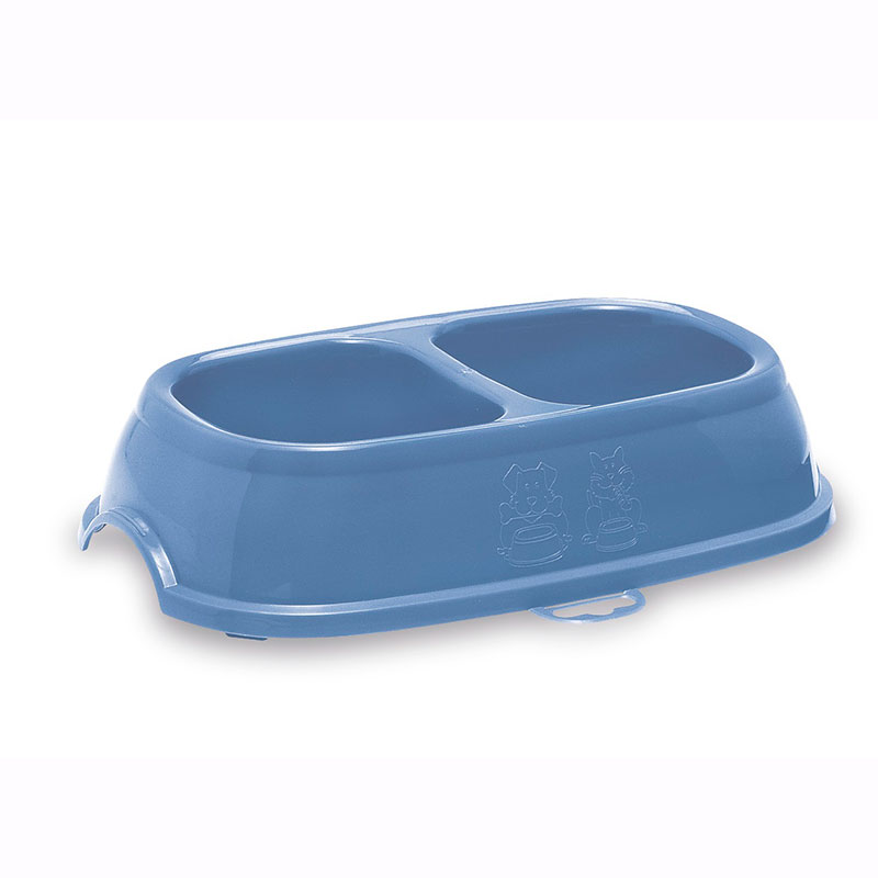 Antiskid Plastic Feeding Double Bowl for Dogs and Cats