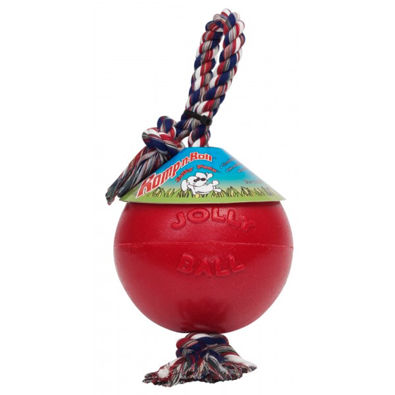 Jolly Pet Dog Toy Romp-n-roll Red