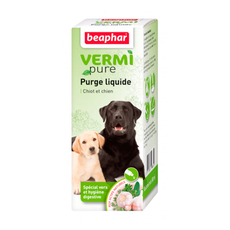 Beaphar Vermi Pure Natural 100% Internal antiparasitic solution for dog