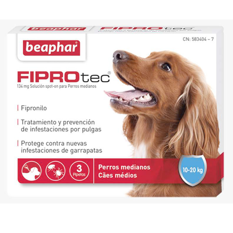 External Antiparasitic Beaphar FiproTec Medium dog 10-20kg