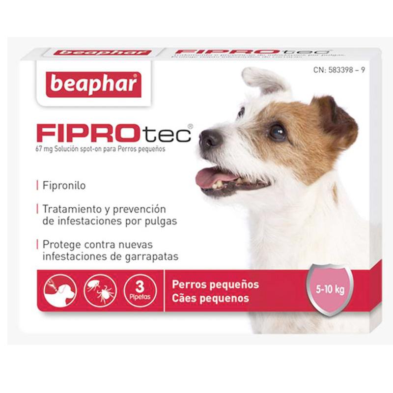 Antiparasitario Externo Beaphar FiproTec perro pequeños 5-10kg