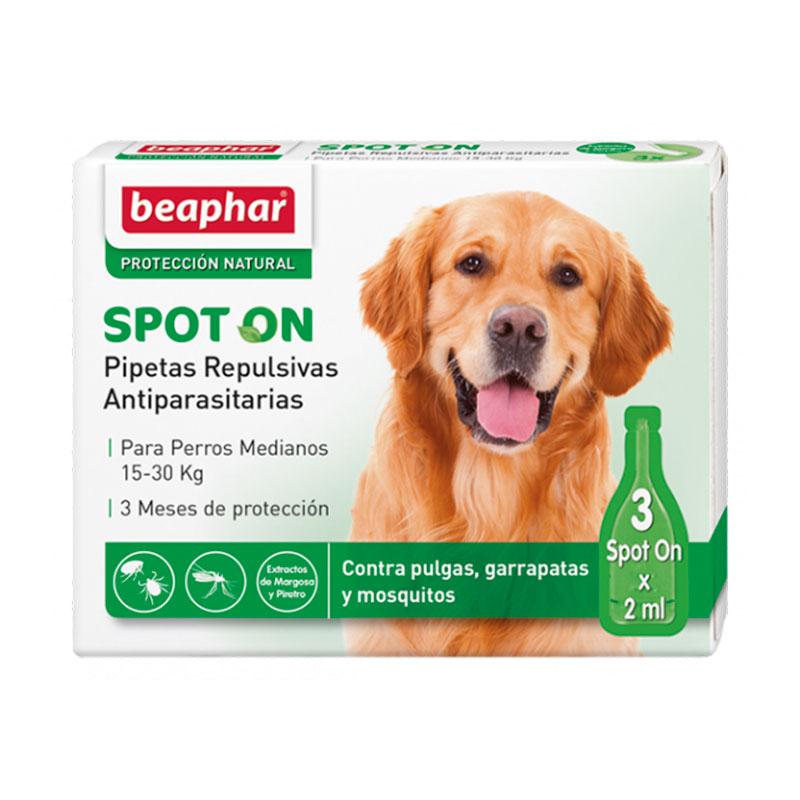 Beaphar Pipetas Repulsivas Antiparasitarias para Perros Medianos 15-30kg