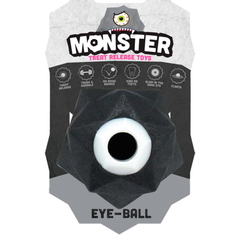 Monster eye ball mini dog toy