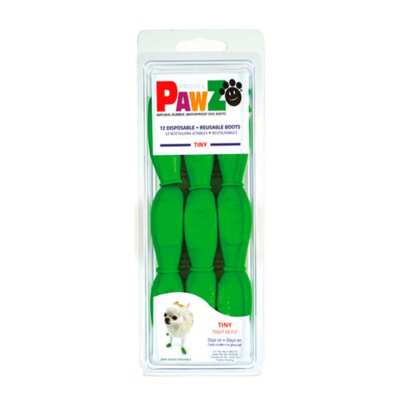 Pawz Dog Boots for Dogs Green