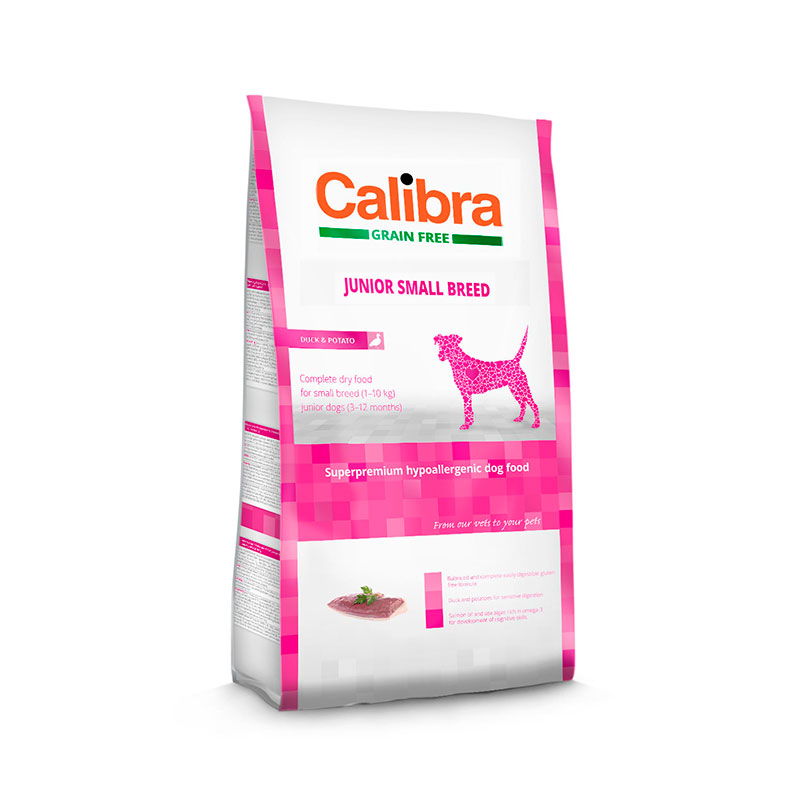 Calibra Perro Grain Free Junior Small Breed Pato