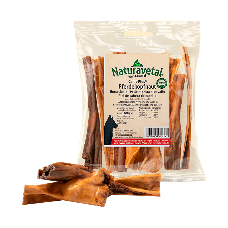 Naturavetal Canis Plus Snacks Horse Head Skin