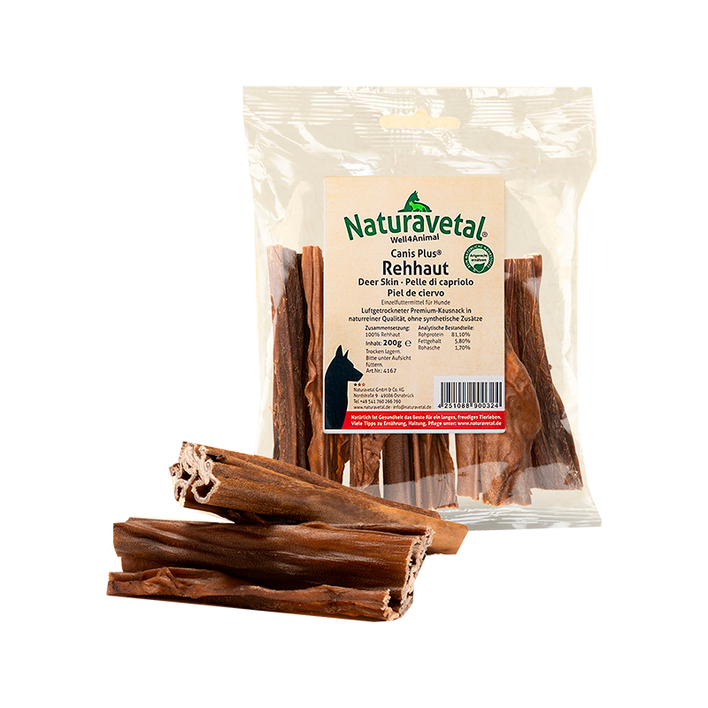 Naturavetal Canis Plus Snacks Deer Skin