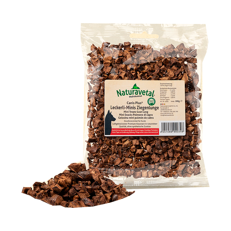 Naturavetal Canis Plus Snacks Mini Goat Lung Treats