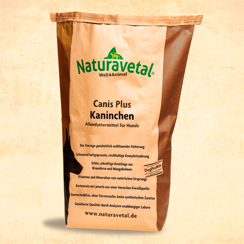 Naturavetal Dog Feed Plus Rabbit