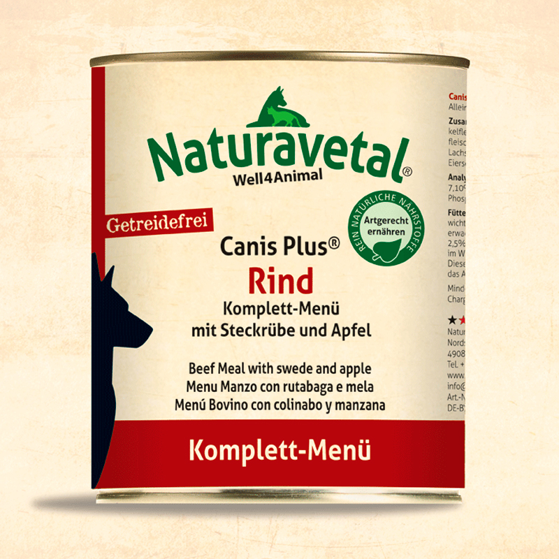 Naturavetal Complete Dog Menu Bovine With Apple And Turnip