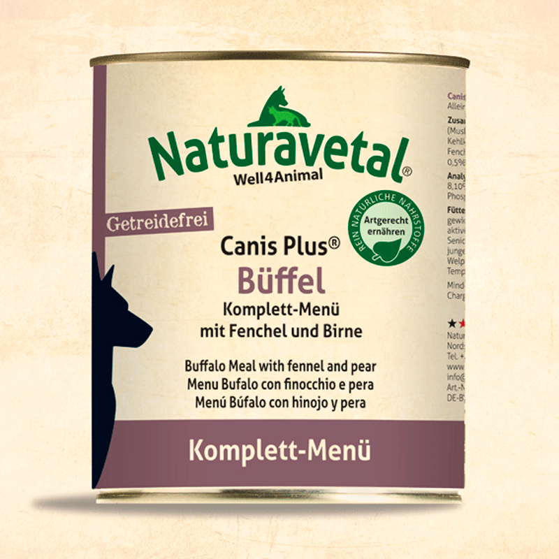 Naturavetal Complete Dog Menu Buffalo With Fennel And Pear