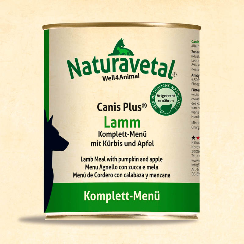 Naturavetal Complete Dog Menu Lamb With Pumpkin And Apple