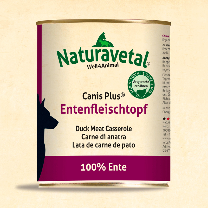 Naturavetal Canis Plus For Duck Meat Dogs