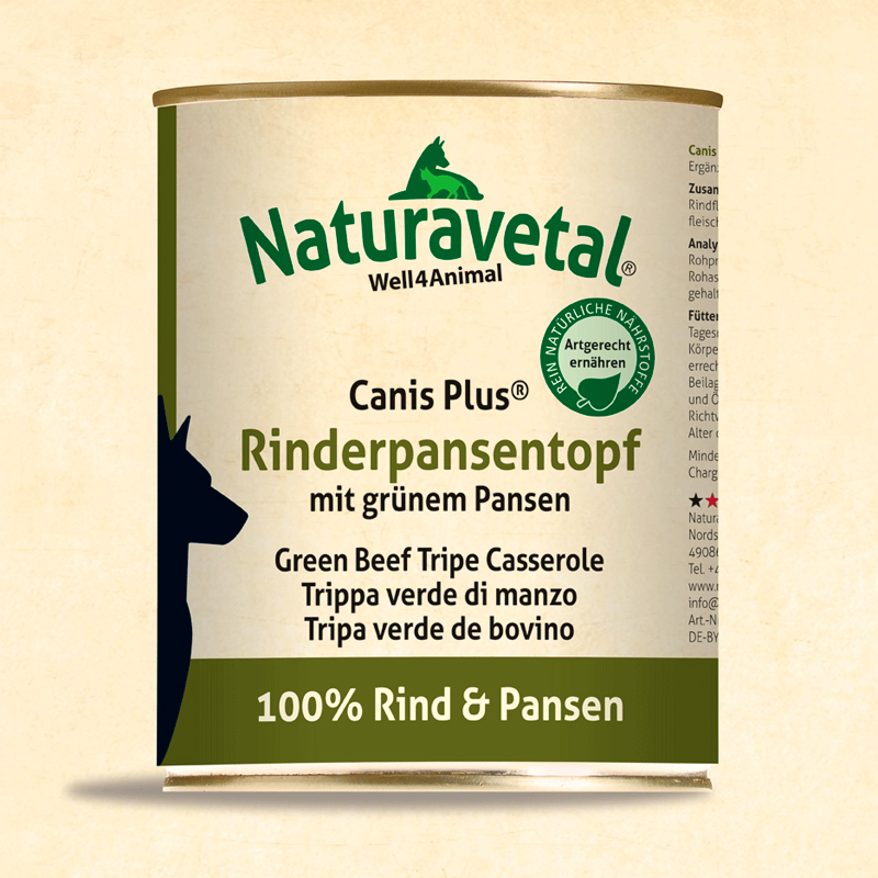 Naturavetal Canis Plus For Veal Meat Dogs with Green Gut