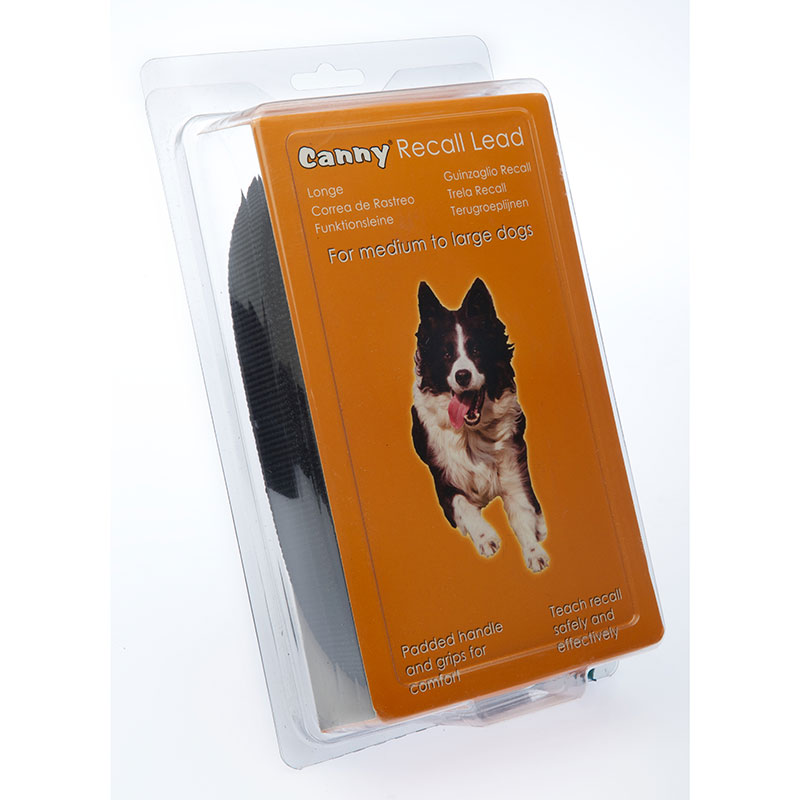 Cannycollar Canny Lead Recall Black Medium-Large Dogs