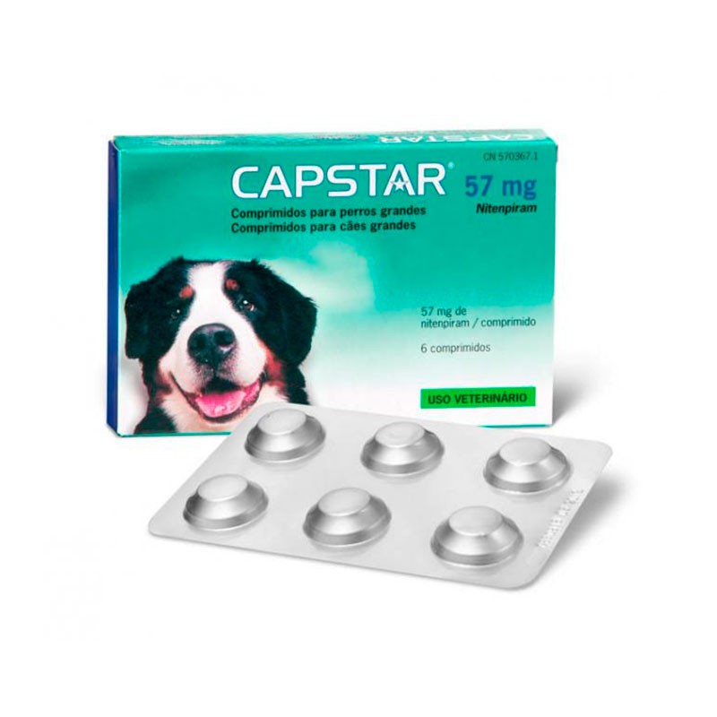 Capstar for Large Dogs 57mg 6 Tablets Elanco