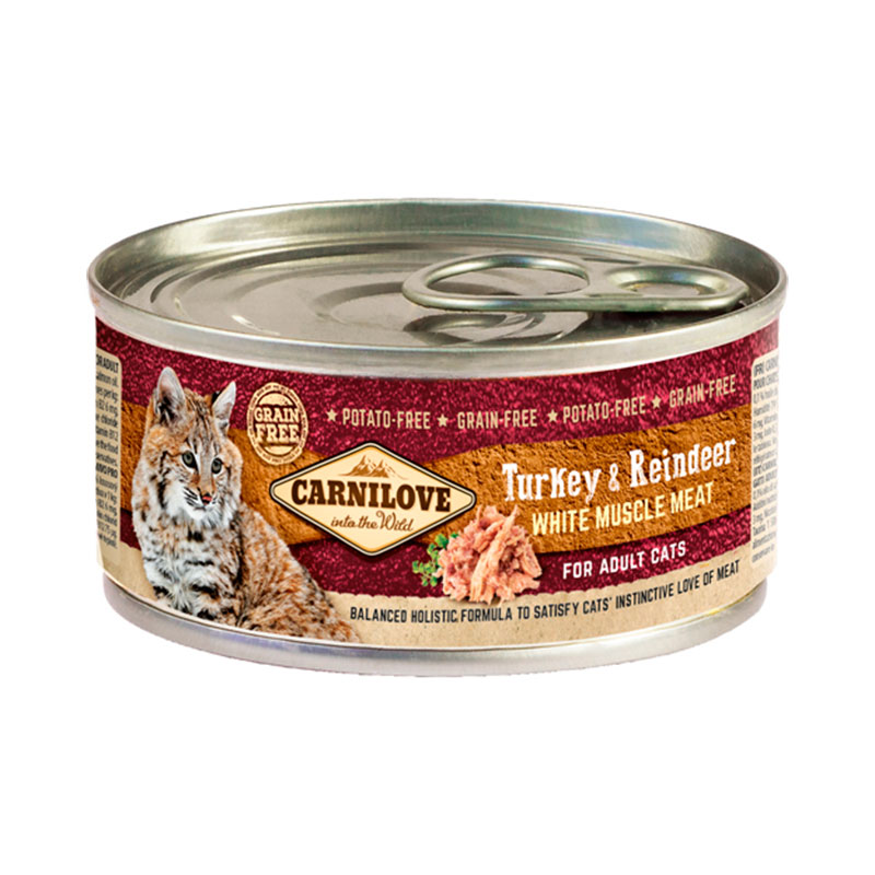 Carnilove Cat Can Turkey & Reindeer 100 GR