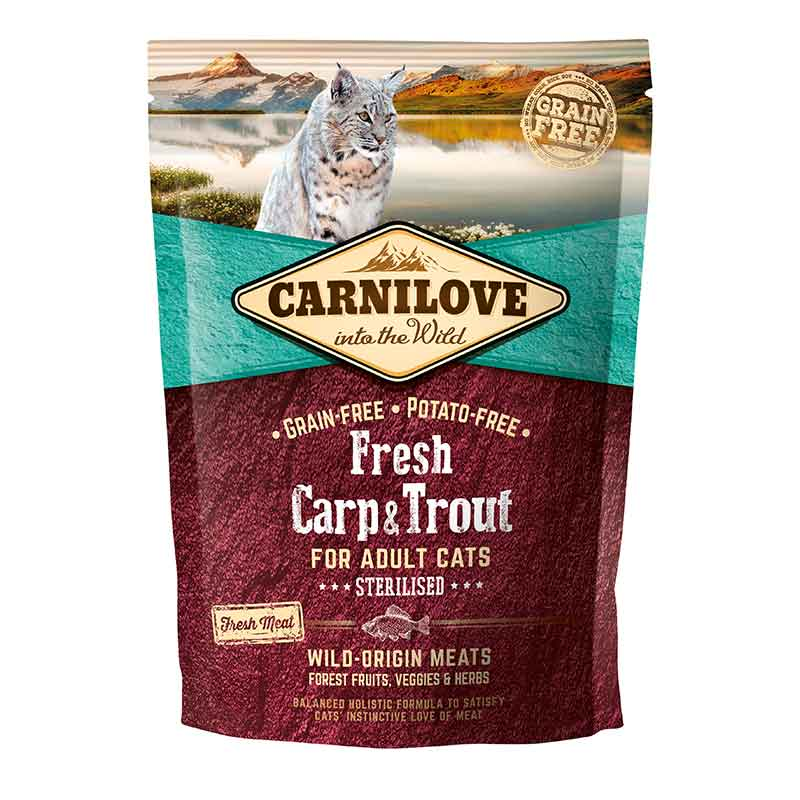 Carnilove Fresh Carp & Trout Gato Adulto Sterilised