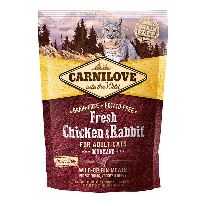 Carnilove Fresh Chicken & Rabbit Gato Adulto Gourmand