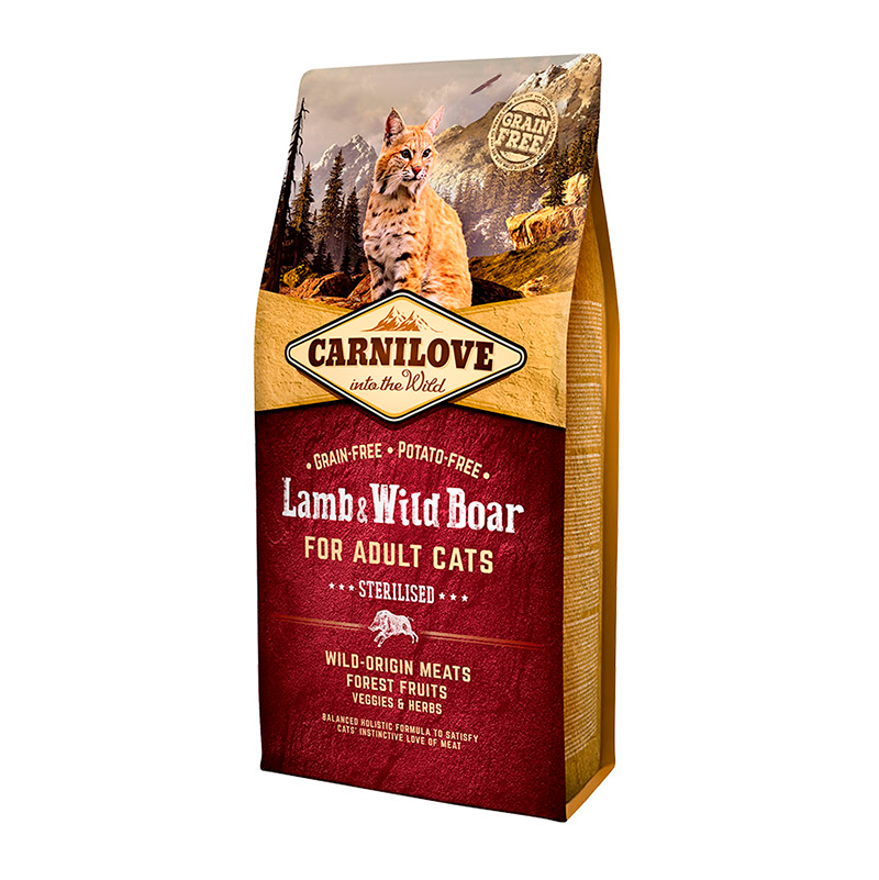 Carnilove adult cat Lamb & Wild Boar for sterilized cats
