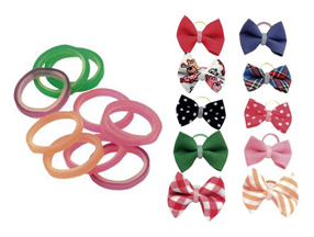Hair Bows and Elastics
