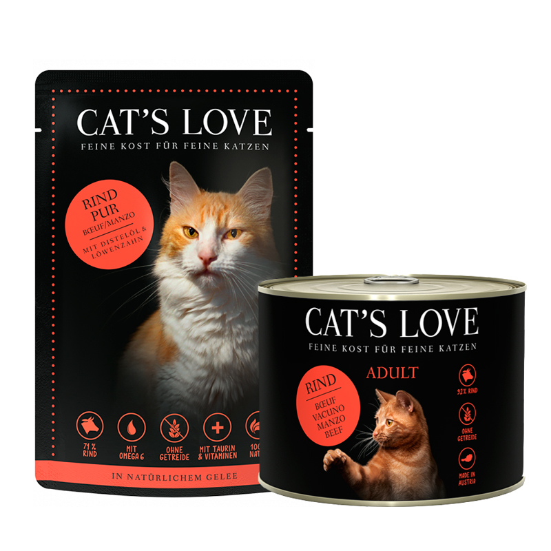 Cat's Love Adult Cat Can of Pure Veal