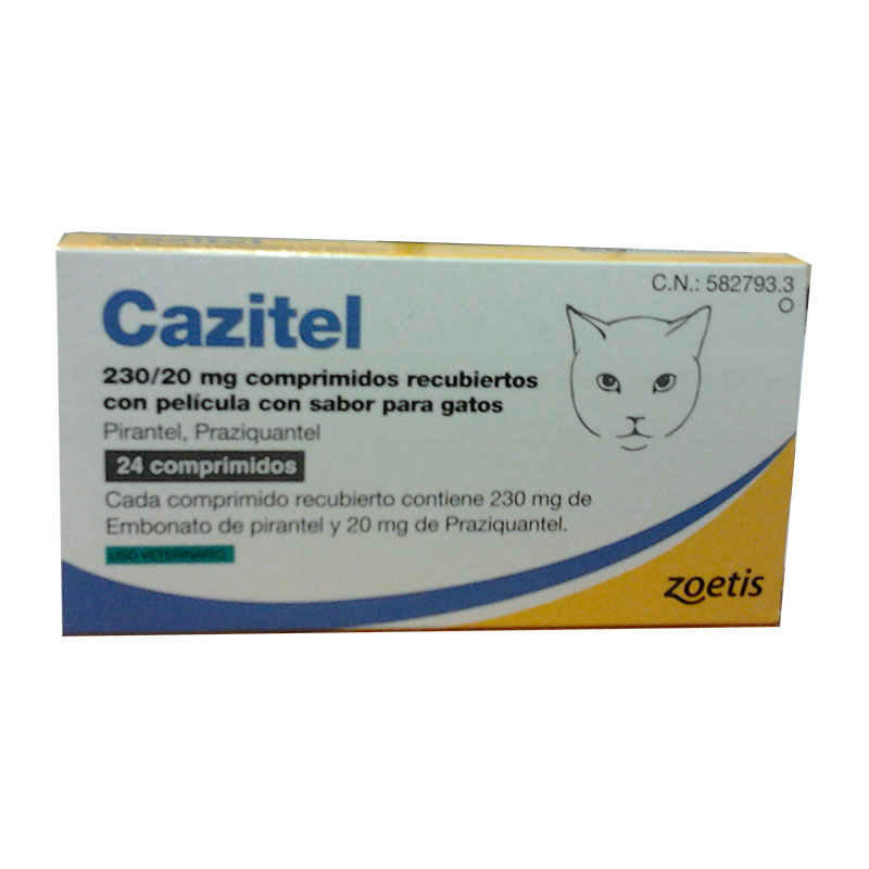 Internal Antiparasitic Cazitel 230/20 mg. Individual tablets for cats