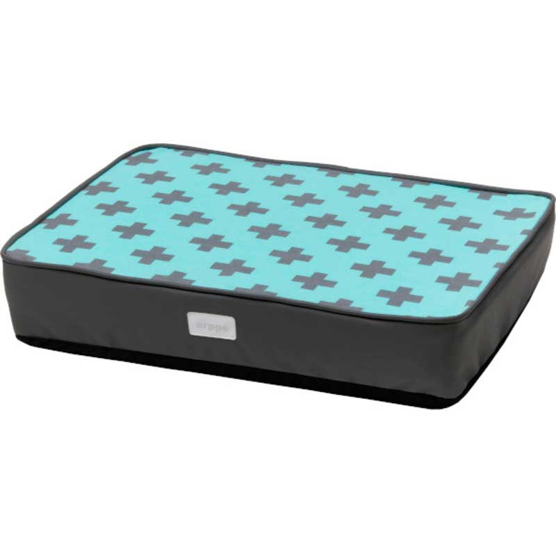 Arppe Rectangular Mattress Crux Gray and Turquoise