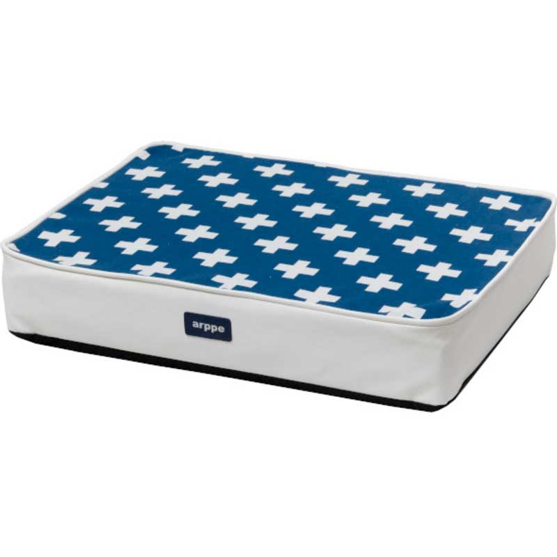 Arppe Rectangular Crux White and Blue Mattress