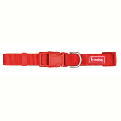 Collar Nylon Basic Rojo Teja