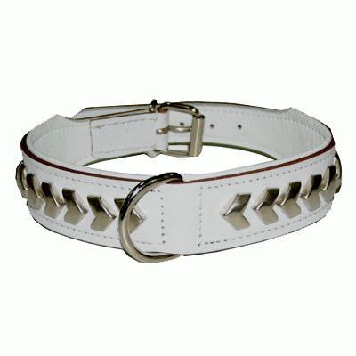 Collar Leather Berlin DeLuxe White