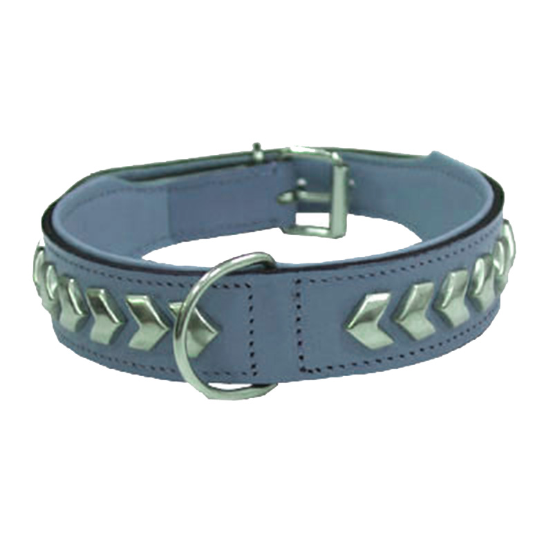 Collar Leather Berlin DeLuxe Grey